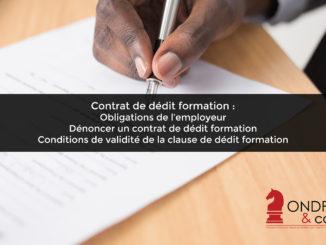 contrat, dédit formation, obligations, employeur, dénoncer, validité, clause